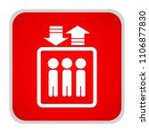 elevator icon. vector... | Shutterstock .eps vector #1106877830