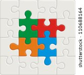 many colored puzzle pattern ... | Shutterstock .eps vector #110688164