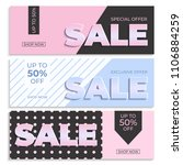 sale banner template. special... | Shutterstock .eps vector #1106884259