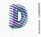 letter d. colorful vivid disco... | Shutterstock . vector #1106885090