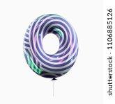 letter o. colorful vivid disco... | Shutterstock . vector #1106885126