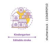 kindergarten concept icon.... | Shutterstock .eps vector #1106890910