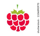 raspberry glyph color icon.... | Shutterstock .eps vector #1106890970