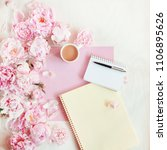flat lay concept with writing... | Shutterstock . vector #1106895626