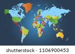 color world map vector | Shutterstock .eps vector #1106900453
