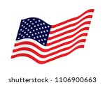 waving flag of the united... | Shutterstock .eps vector #1106900663
