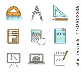 mathematics color icons set.... | Shutterstock .eps vector #1106903336