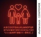 family neon light icon.... | Shutterstock .eps vector #1106903408