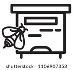 honey bee hive icon as eps 10... | Shutterstock .eps vector #1106907353