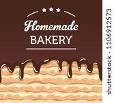 vector illustration  cake close ... | Shutterstock .eps vector #1106912573