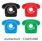 vector old phone icons | Shutterstock .eps vector #110691488