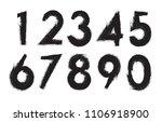 set of grunge numbers.vector... | Shutterstock .eps vector #1106918900