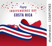 happy costa rica independent... | Shutterstock .eps vector #1106919083