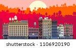 3d rendering set of flat... | Shutterstock . vector #1106920190