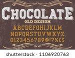 font alphabet script typeface... | Shutterstock .eps vector #1106920763