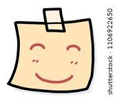 smile note paper   cartoon... | Shutterstock .eps vector #1106922650