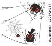 spider cartoon with cobweb. | Shutterstock .eps vector #1106924189