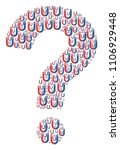 answer figure formed with... | Shutterstock .eps vector #1106929448
