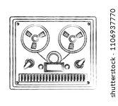 reel to reel tape recorder...   Shutterstock .eps vector #1106937770