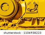 track drive gear  bulldozer... | Shutterstock . vector #1106938223