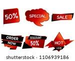 summer sale set isolated vector ... | Shutterstock .eps vector #1106939186