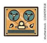 reel to reel tape recorder...   Shutterstock .eps vector #1106939318