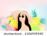 girl with stunning summer... | Shutterstock .eps vector #1106939540