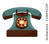retro telephone vintage style | Shutterstock .eps vector #1106941139