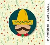viva mexico celebration | Shutterstock .eps vector #1106943389