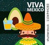 viva mexico celebration   Shutterstock .eps vector #1106944283
