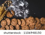 row of delicious chocolate chip ... | Shutterstock . vector #1106948150