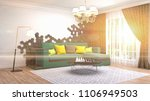 interior living room. 3d... | Shutterstock . vector #1106949503