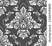 vector damask seamless pattern... | Shutterstock .eps vector #1106949800