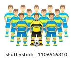 football team on a white... | Shutterstock .eps vector #1106956310