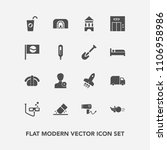 modern  simple vector icon set... | Shutterstock .eps vector #1106958986