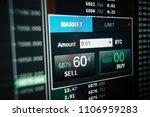 stock market interface on lcd...   Shutterstock . vector #1106959283