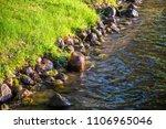 rocky shoreline close up water...   Shutterstock . vector #1106965046