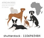 dogs by country of origin.... | Shutterstock .eps vector #1106965484