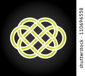green eternal knot concept in... | Shutterstock .eps vector #110696558