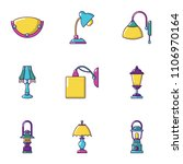 illuminator icons set. cartoon... | Shutterstock .eps vector #1106970164