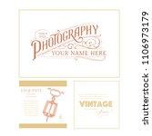 photographer logo. vintage... | Shutterstock .eps vector #1106973179