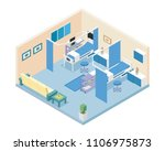 modern hospital ward room area... | Shutterstock .eps vector #1106975873