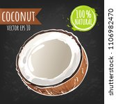 coconut. fresh fruit bright...   Shutterstock .eps vector #1106982470