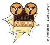 reel to reel tape recorder...   Shutterstock .eps vector #1106982494