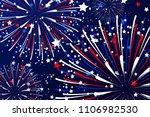 fireworks vector in color of... | Shutterstock .eps vector #1106982530