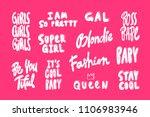 i am so pretty  boss bsbe ... | Shutterstock .eps vector #1106983946