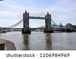 a view of tower bridge | Shutterstock . vector #1106984969