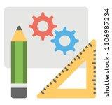 pencil  cogwheels symbolising...   Shutterstock .eps vector #1106987234