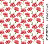 seamless pattern of red... | Shutterstock . vector #1106989136