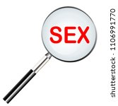 sex highlighted in magnifier... | Shutterstock .eps vector #1106991770